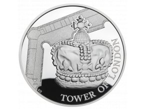 UK19CJSP The Tower of London The Crown Jewels 2019 UK £5 Silver Proof Coin rev tone 768x768